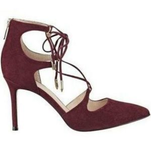 Marc Fisher Burgundy Lace Up Heels Size 10